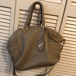 Diane Von Furstenberg leather duffel purse